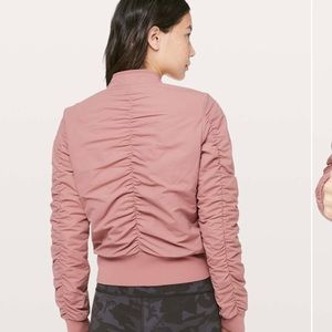 Lululemon Warm Two Ways Bomber Copper Coil